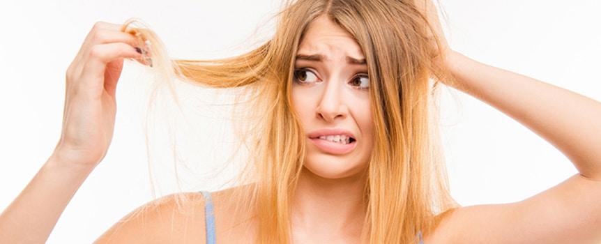 trockene Haare pflegen
