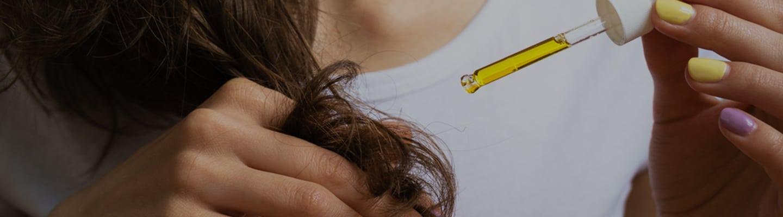 Haaröl Test auftragen